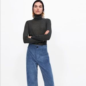 Zara Grey Turtleneck Sweater